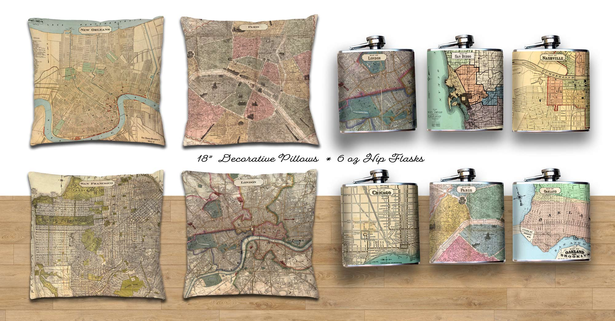 Oso and Bean Vintage Maps